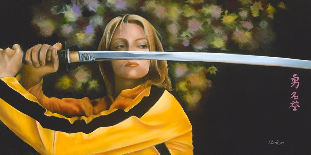 """Kill Bill"" original fine art by David Clark"