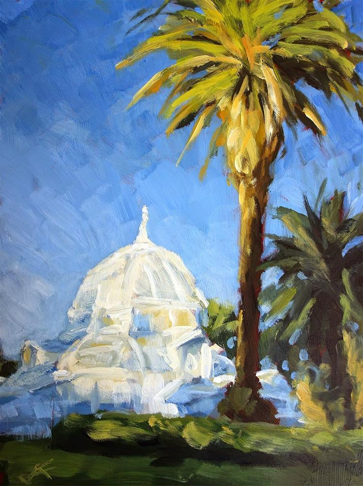 """The Conservatory"" original fine art by J. Farnsworth"