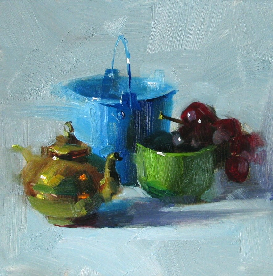 """Cool Feeling"" original fine art by Qiang Huang"