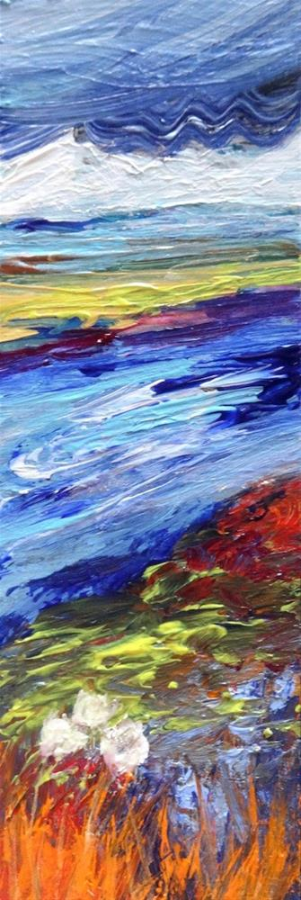 """4151 - The River Flows - Raw Edge Painting"" original fine art by Sea Dean"
