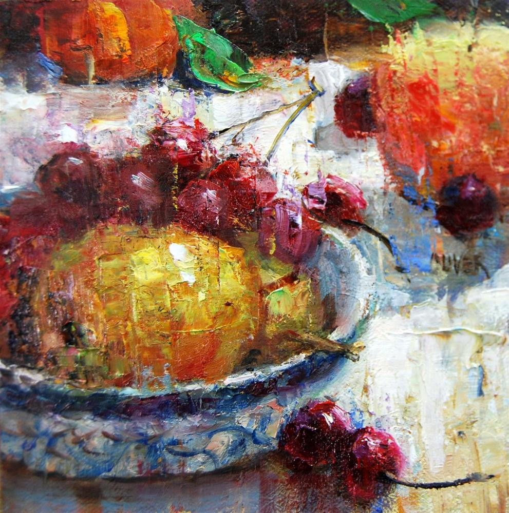 """Cherries...Not in the Pie!"" original fine art by Julie Ford Oliver"