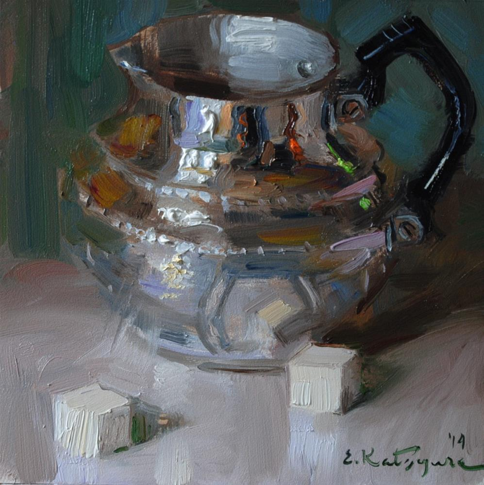 """Silver and Sugar"" original fine art by Elena Katsyura"