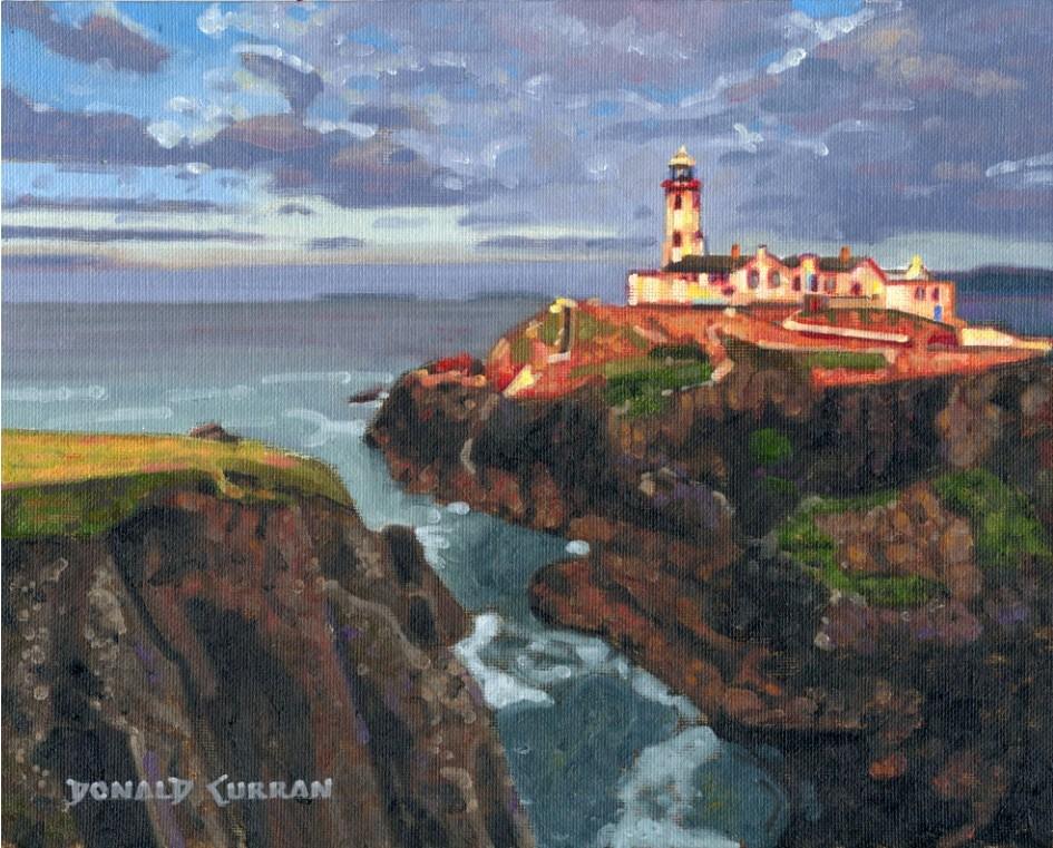"""Irish Lighthouse"" original fine art by Donald Curran"