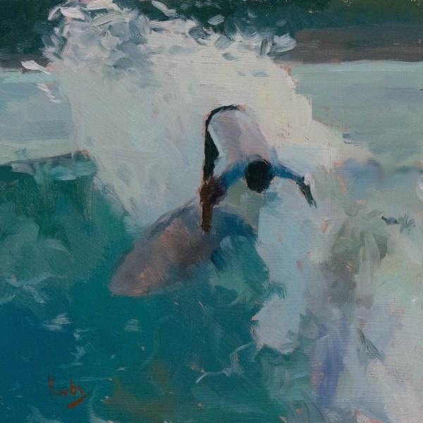 """The Limit"" original fine art by Randall Cogburn"