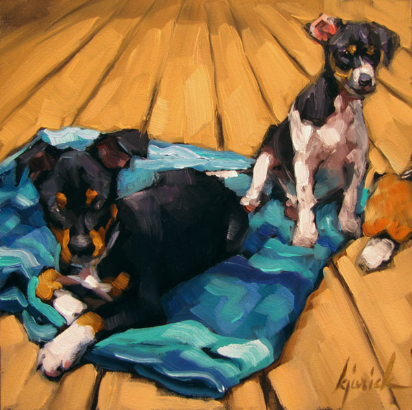 """Zac & Joey"" original fine art by Karin Jurick"