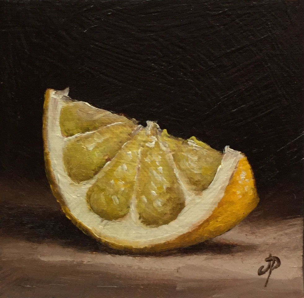 """Little lemon slice"" original fine art by Jane Palmer"