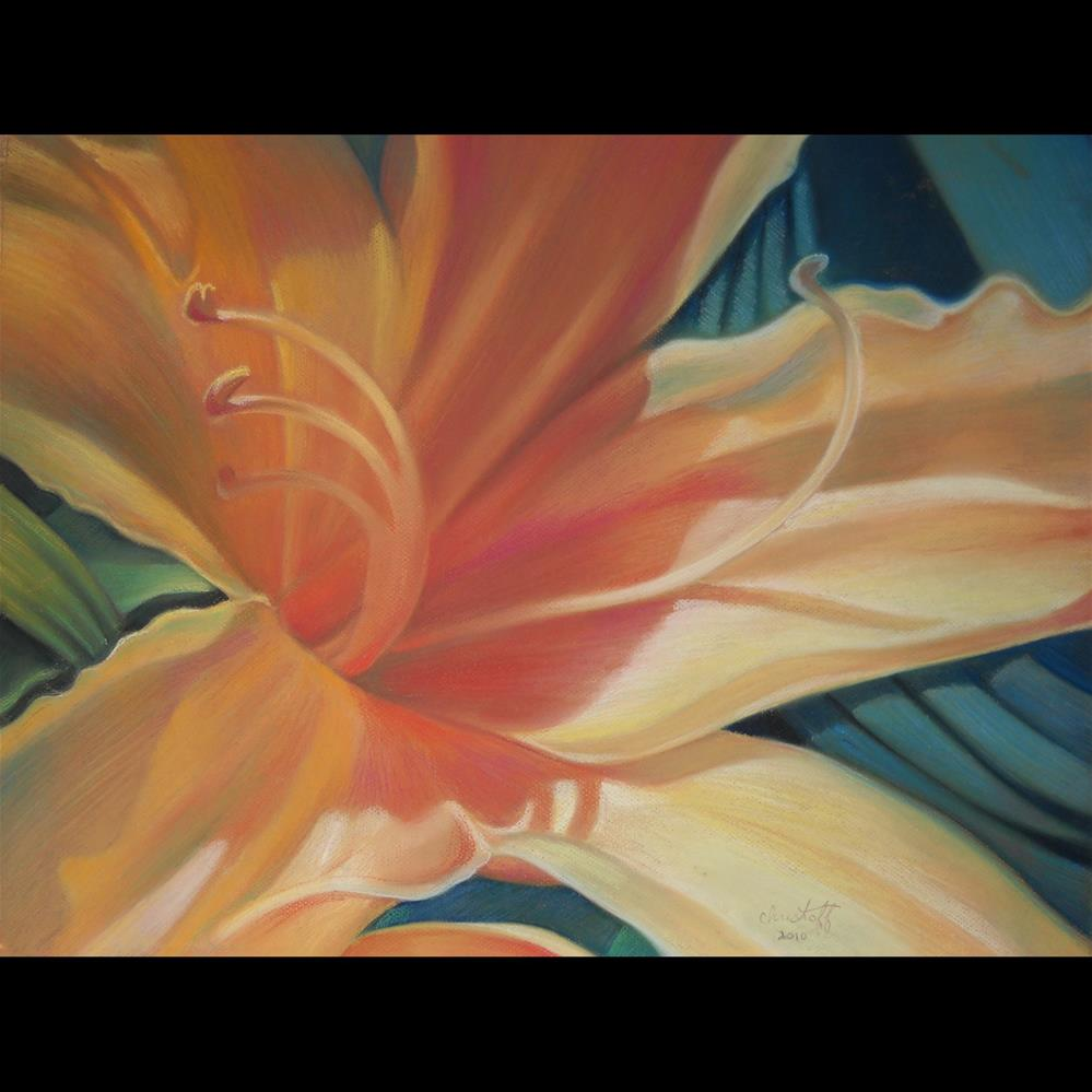 """Sunshine on a Flower"" original fine art by emily Christoff-Flowers"
