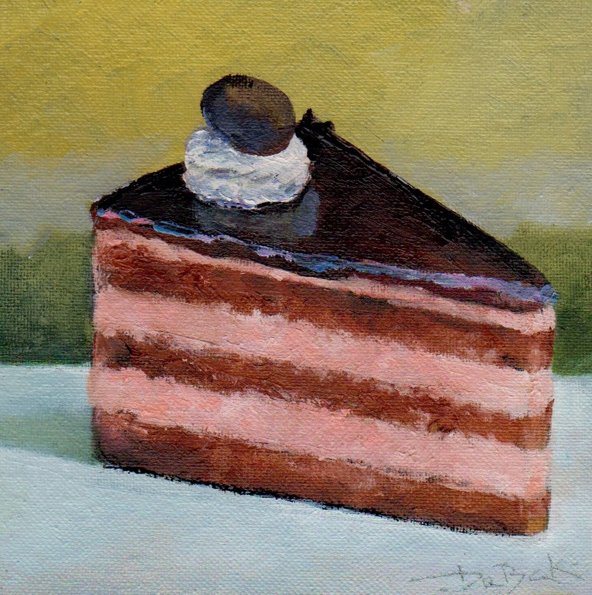 """cake"" original fine art by Leo DeBak"