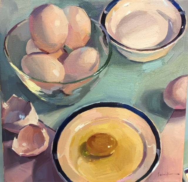 """Morning Eggs"" original fine art by Sarah Sedwick"