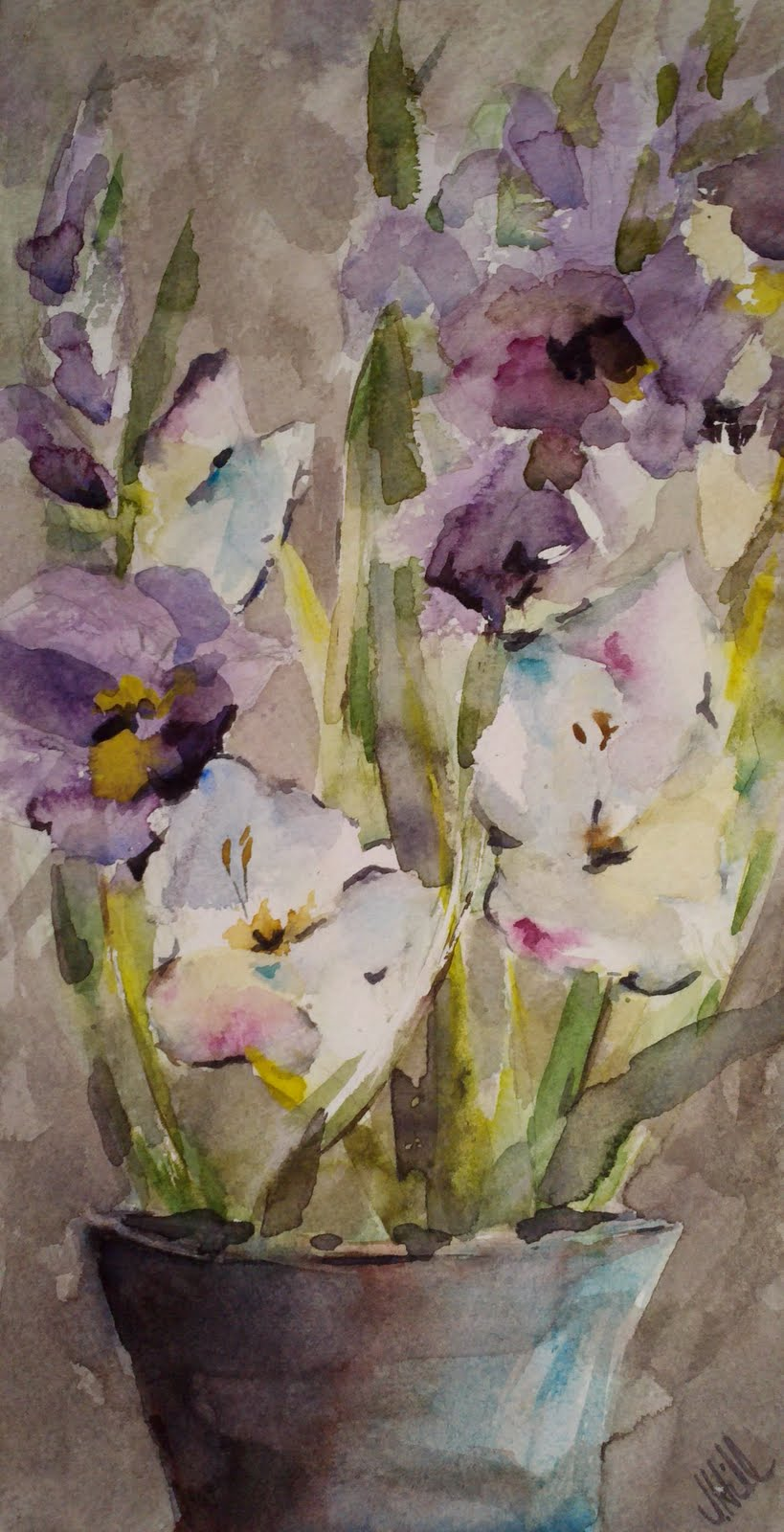 An Afternoon with a Friend original fine art by Julie Hill