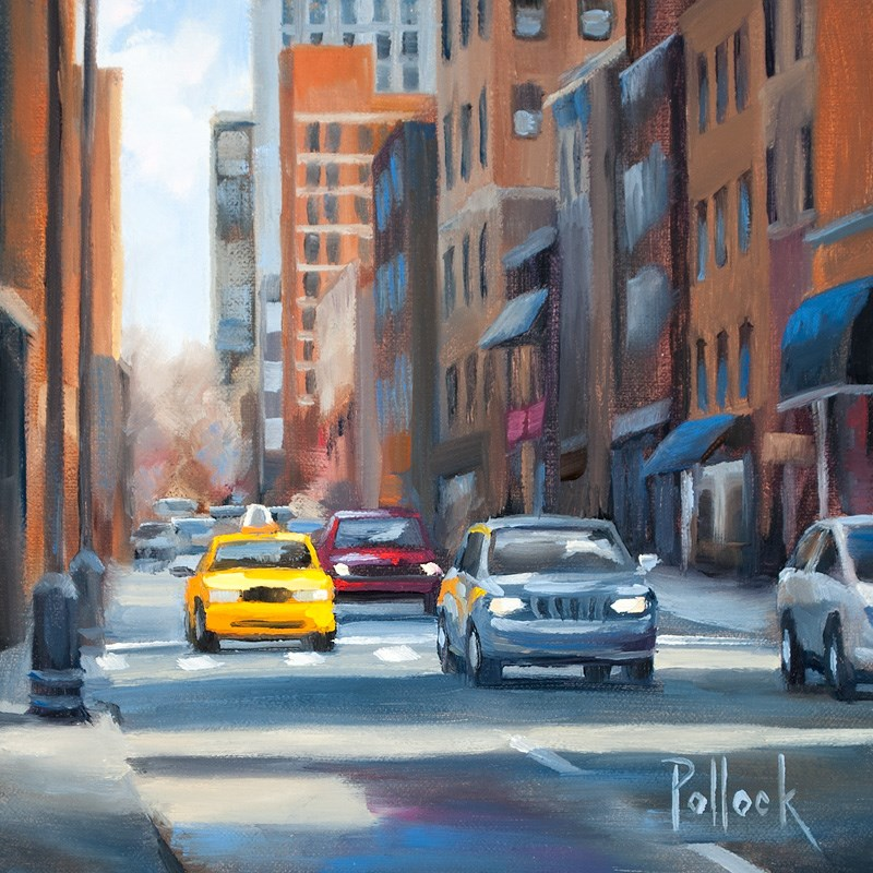 """Sunbeam, Philly"" original fine art by Sarah Pollock"