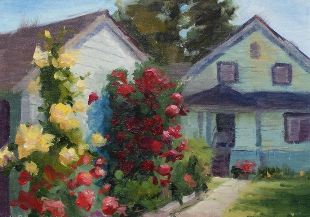 """No. 456 Antique Rose Farm #3"" original fine art by Susan McManamen"