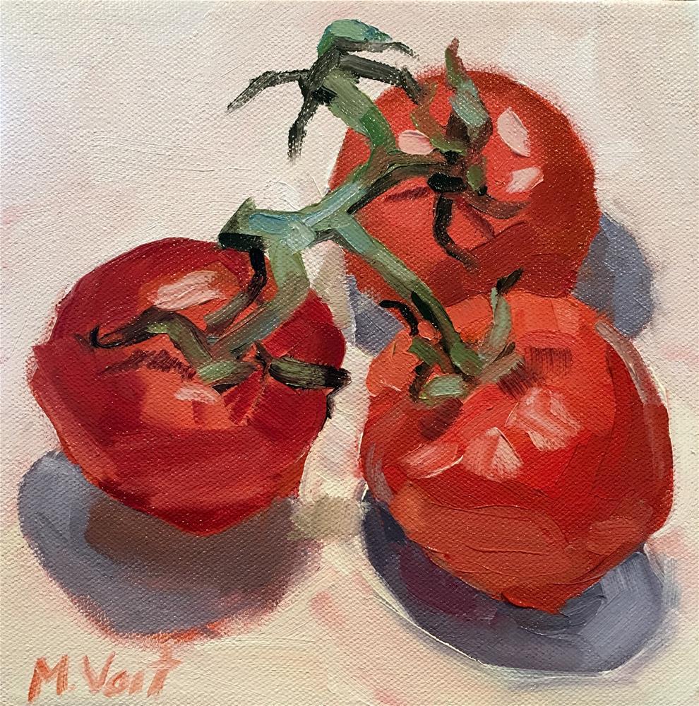"""""""Tomatoes"""" original fine art by Milda Vaitiekunaite"""