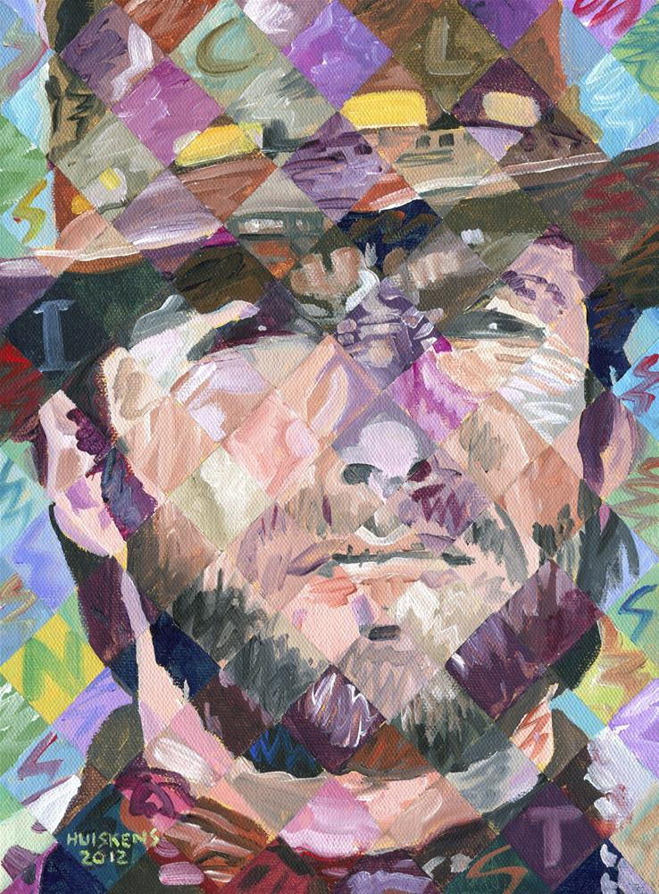 """Small Clint Eastwood"" original fine art by Randal Huiskens"