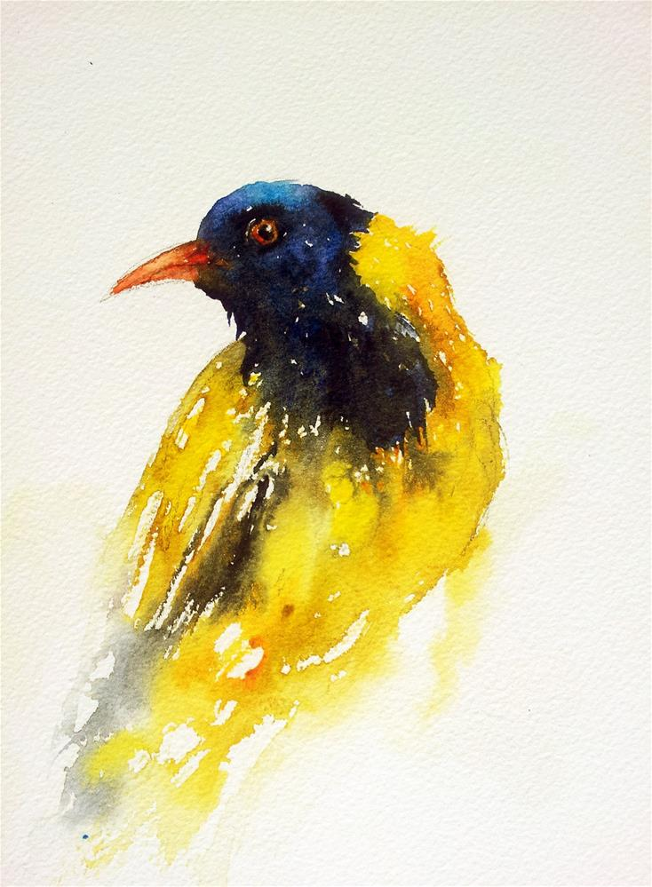 """Yellow Bird"" original fine art by Arti Chauhan"
