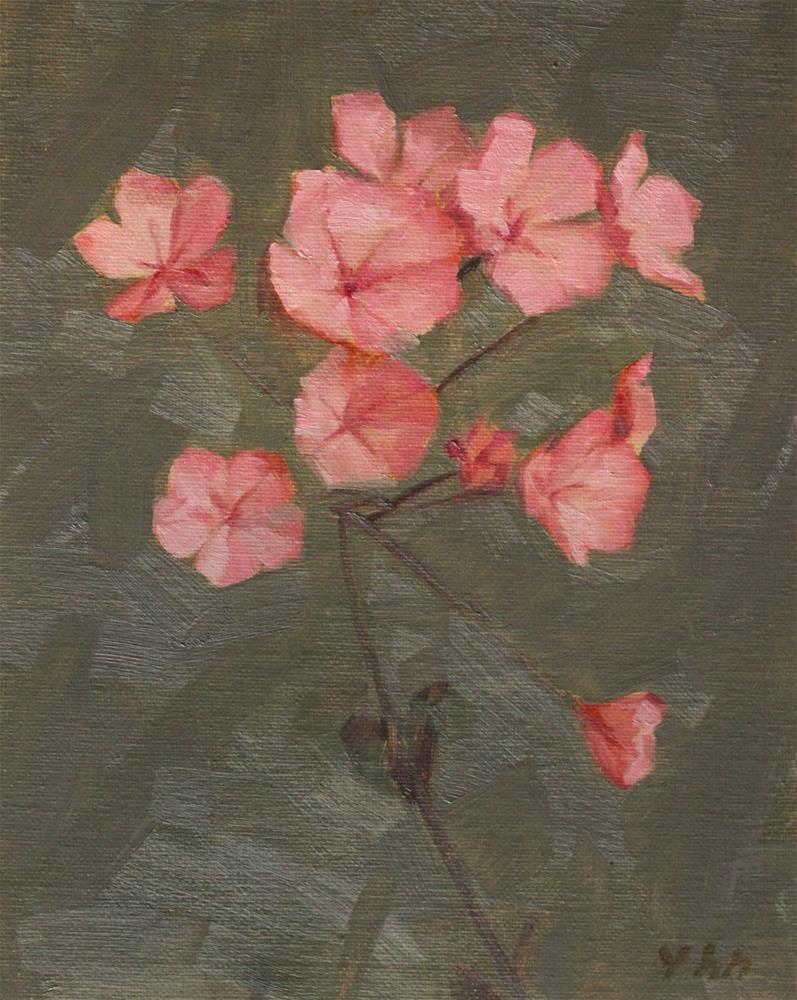 """flower"" original fine art by Yuehua He"