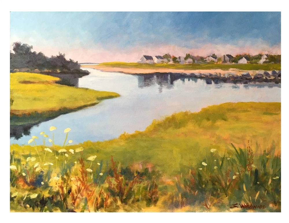 """Across The Marsh"" original fine art by Suzanne Woodward"