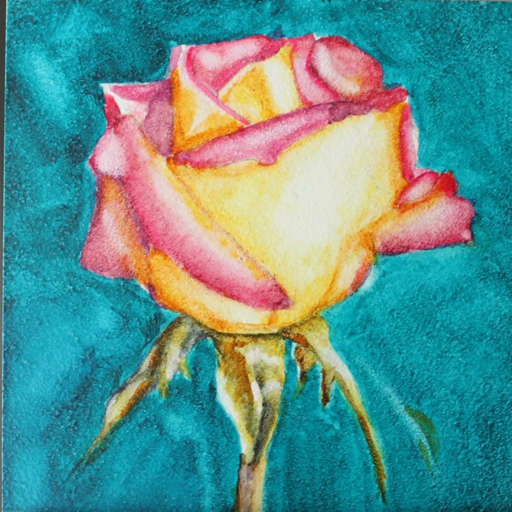 """Rose Beauty"" original fine art by Christiane Kingsley"