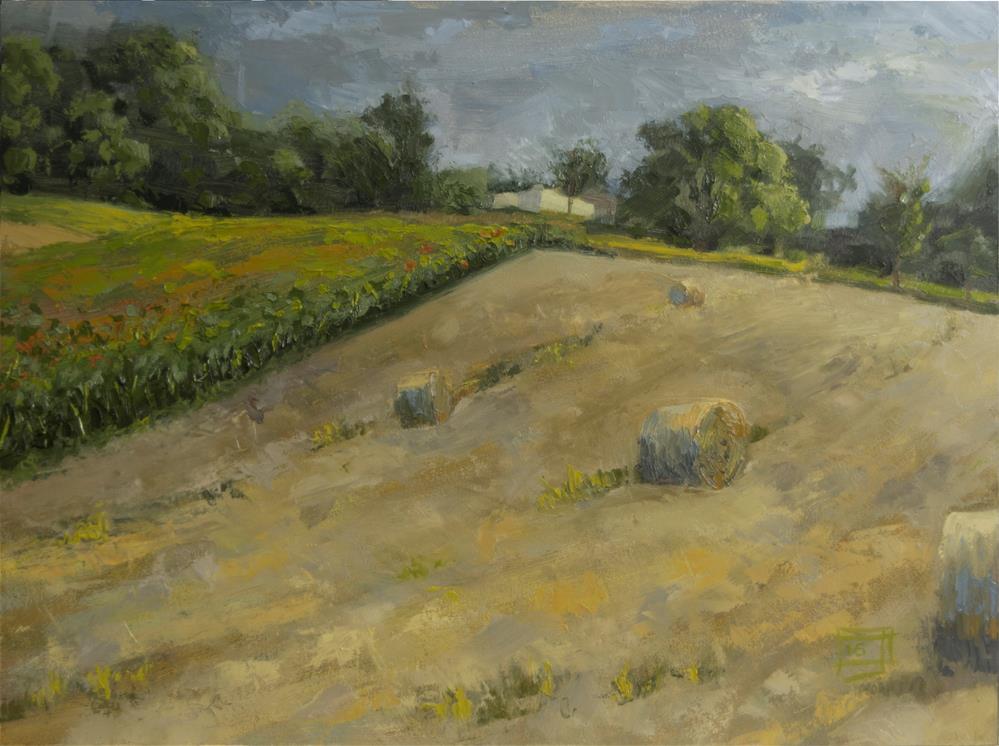 """""""Up the Hill"""" original fine art by Johan Derycke"""