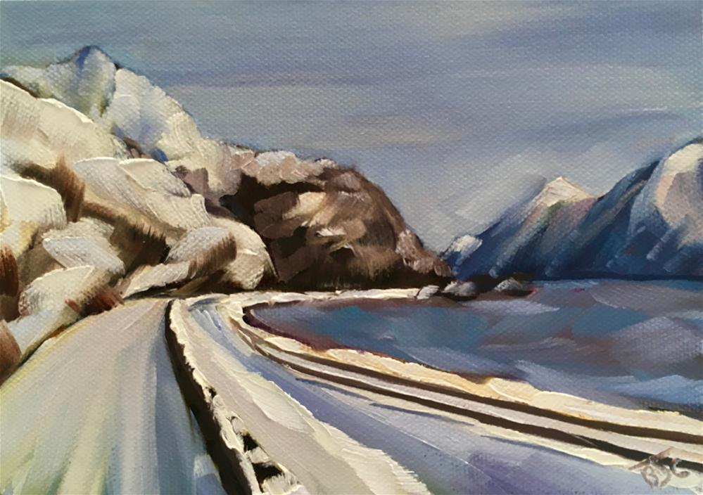 """Turnagain Arm"" original fine art by Bobbie Cook"
