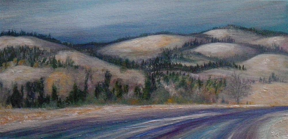 """2001 - Snowdust"" original fine art by Sea Dean"