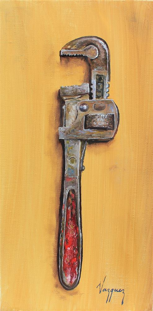 """""""That old wrench"""" original fine art by Marco Vazquez"""