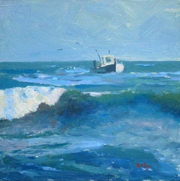 """Surf Fishing"" original fine art by Randall Cogburn"