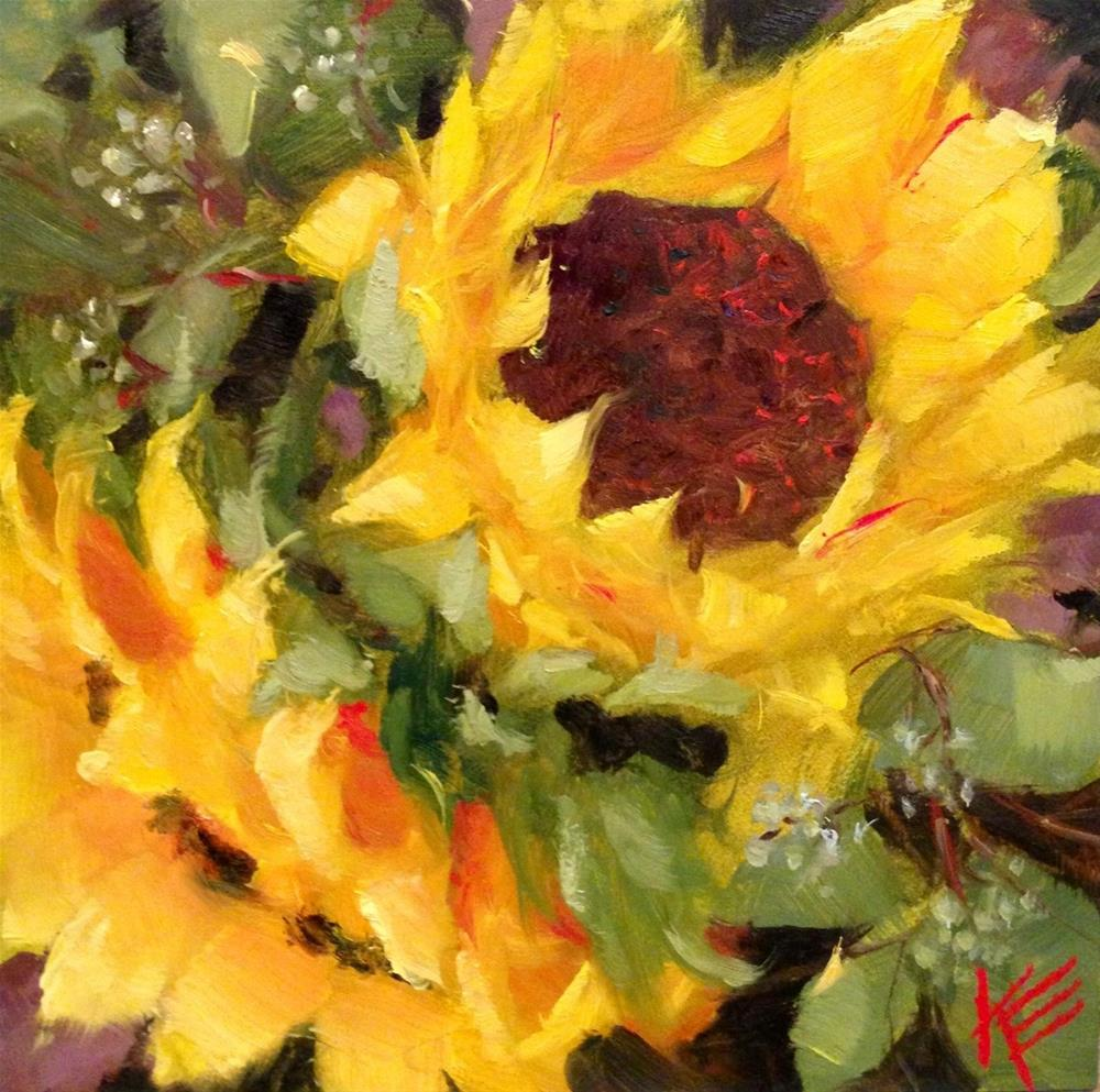 """Sunshine Embrace"" original fine art by Krista Eaton"