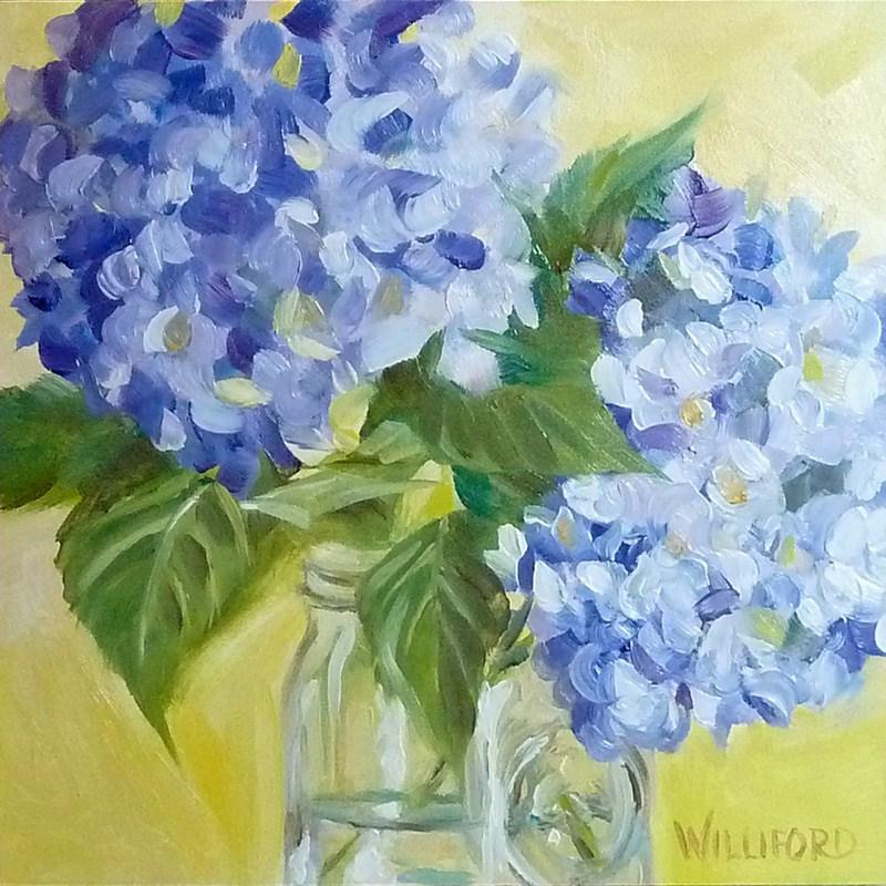 """""""Hydrangeas"""" original fine art by Kathleen Williford"""