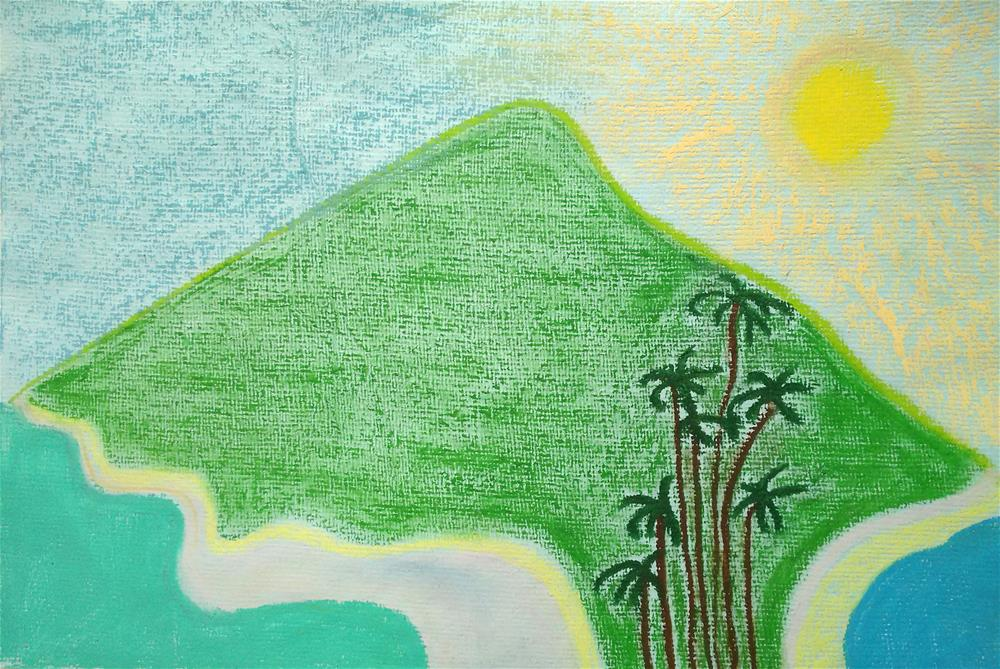 """Look at Arunachala in Summer"" original fine art by Adéla Svobodová"