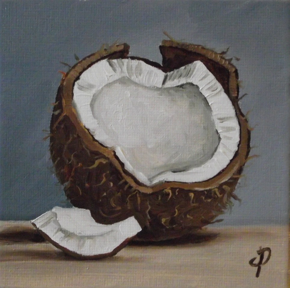 """Little Coconut"" original fine art by Jane Palmer"
