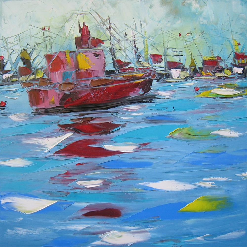 """On the river"" original fine art by Elena Lunetskaya"