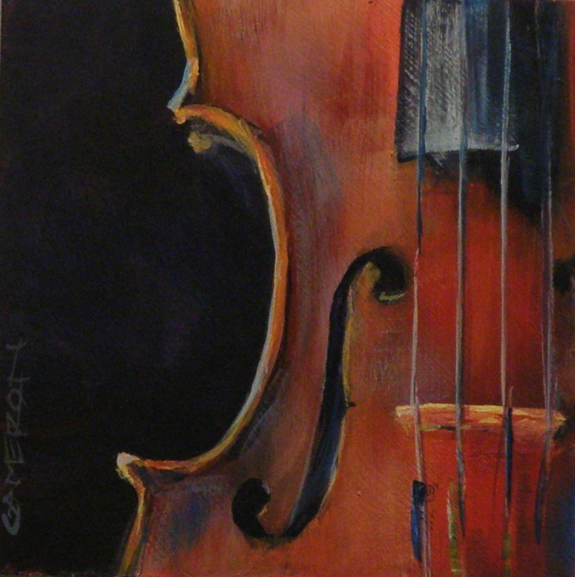 """VIOLIN CROPPED"" original fine art by Brian Cameron"