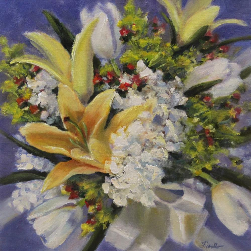 """""""Lilies and White"""" original fine art by Pat Fiorello"""