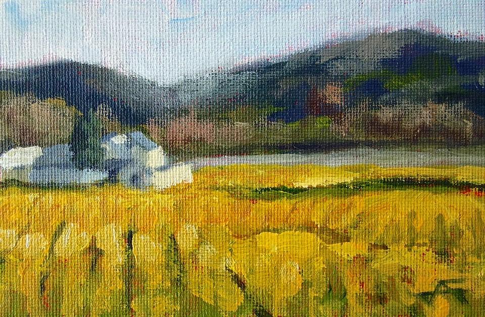 """Early Vineyard"" original fine art by J. Farnsworth"