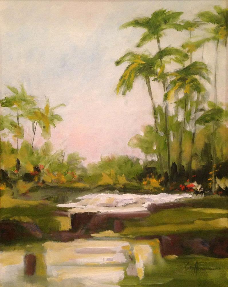 """Punta Cana Falls"" original fine art by Cornelis vanSpronsen"