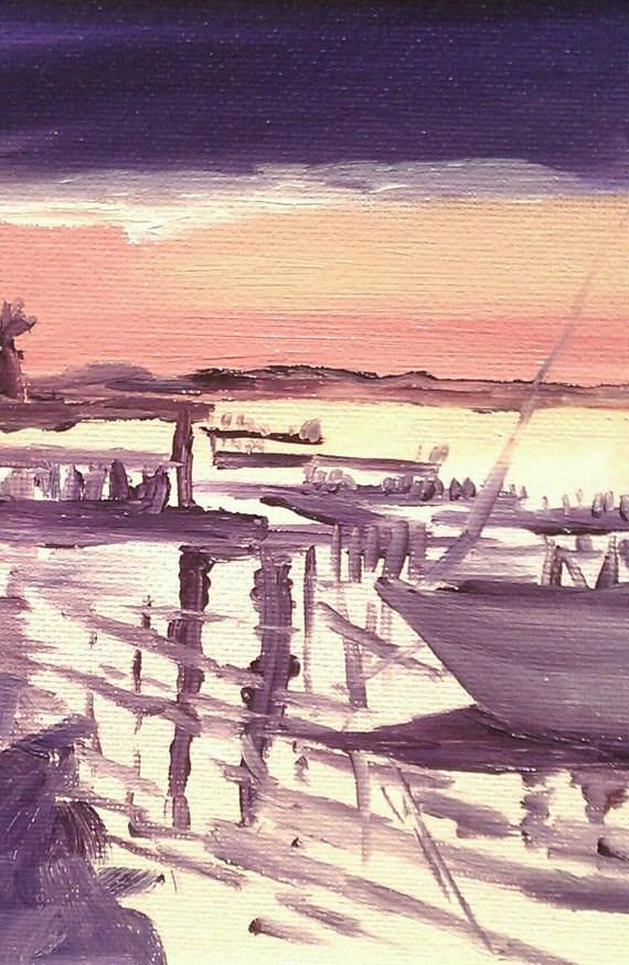 """Sunset Key"" original fine art by Angela Hansen"