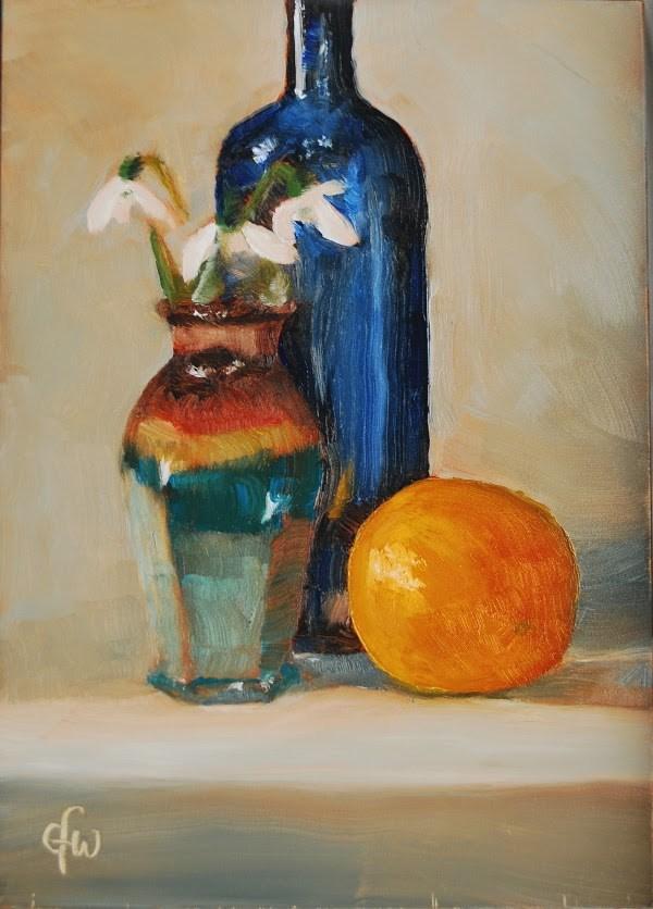 """""""Snowdrops"""" original fine art by Gary Westlake"""