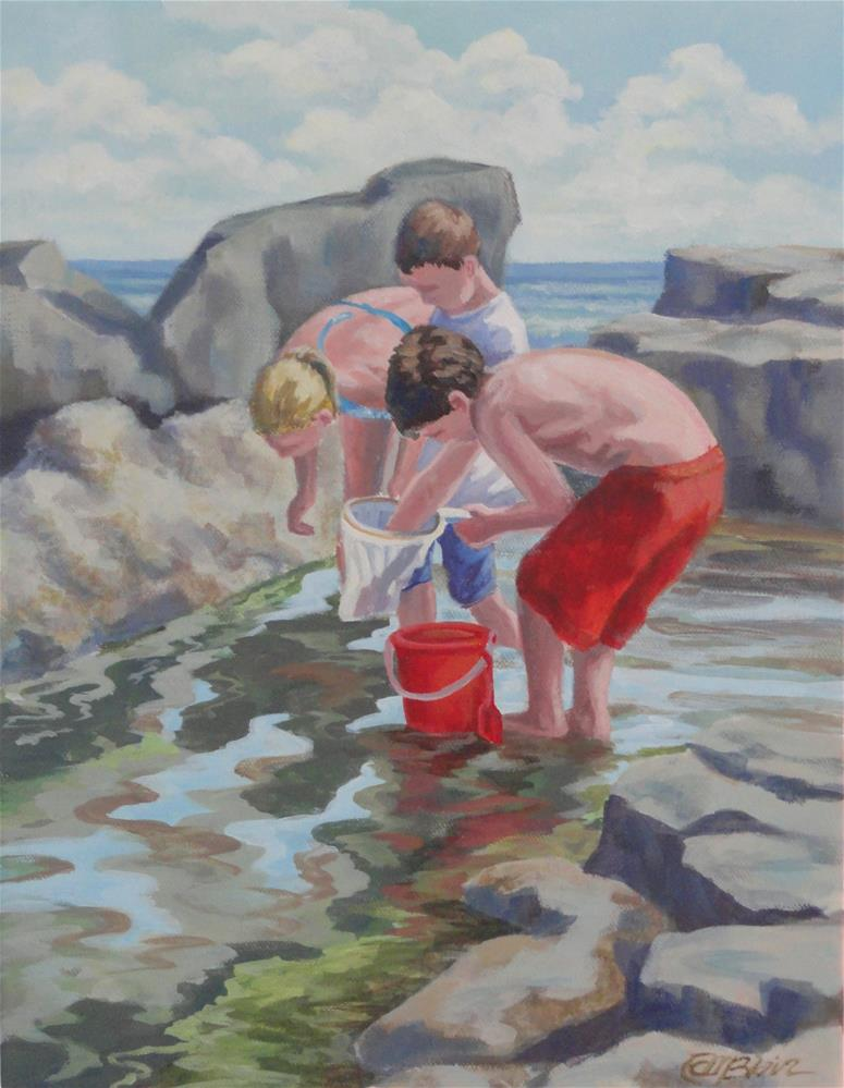 """Searching for Crabs"" original fine art by Christine Blain"