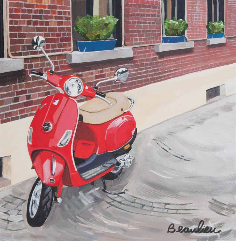 """Vespa 2"" original fine art by Andre Beaulieu"