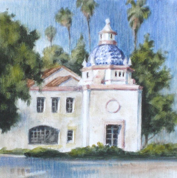 """The Smiley Post Office"" original fine art by Ginger Pena"