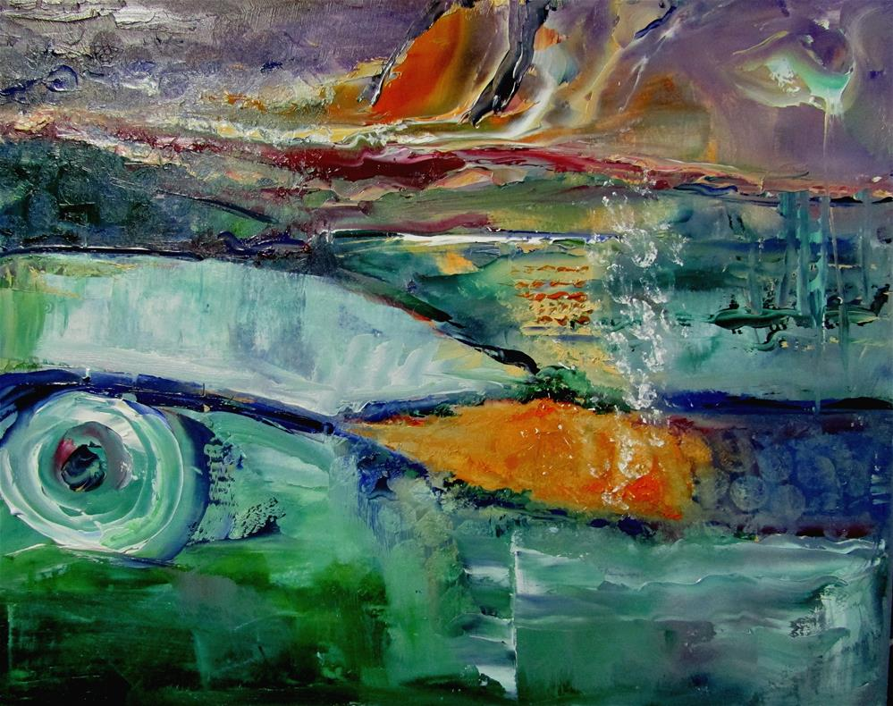 """8 x 10 inch oil Eye of the Storm"" original fine art by Linda Yurgensen"