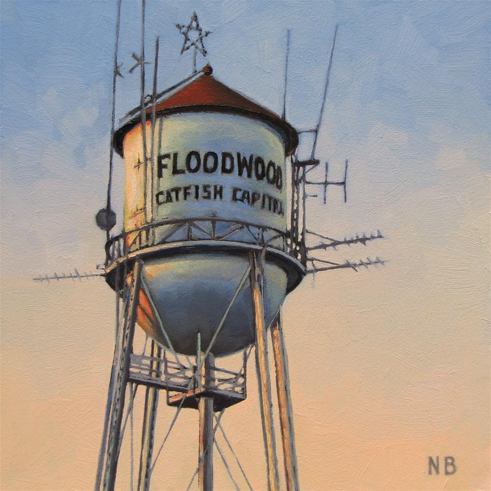 """Catfish Capital"" original fine art by Nora Bergman"