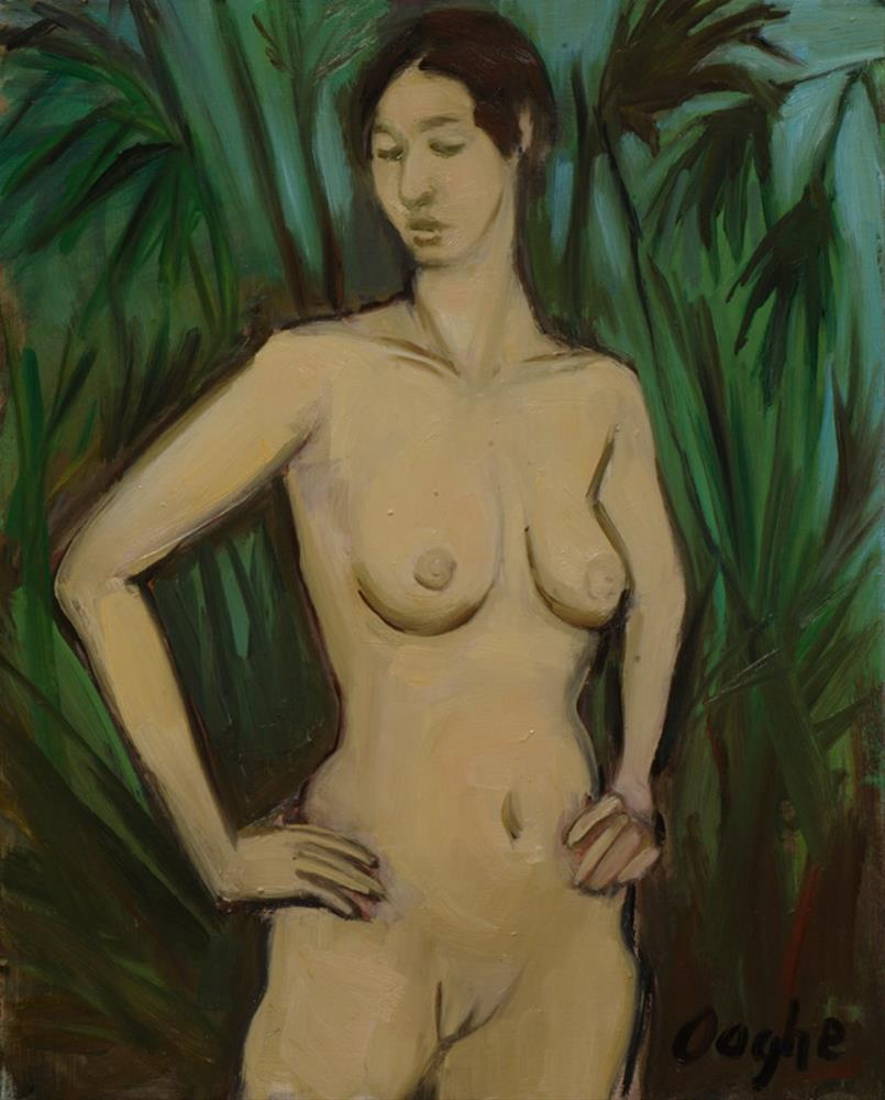 """Nude Standing in Palms"" original fine art by Angela Ooghe"