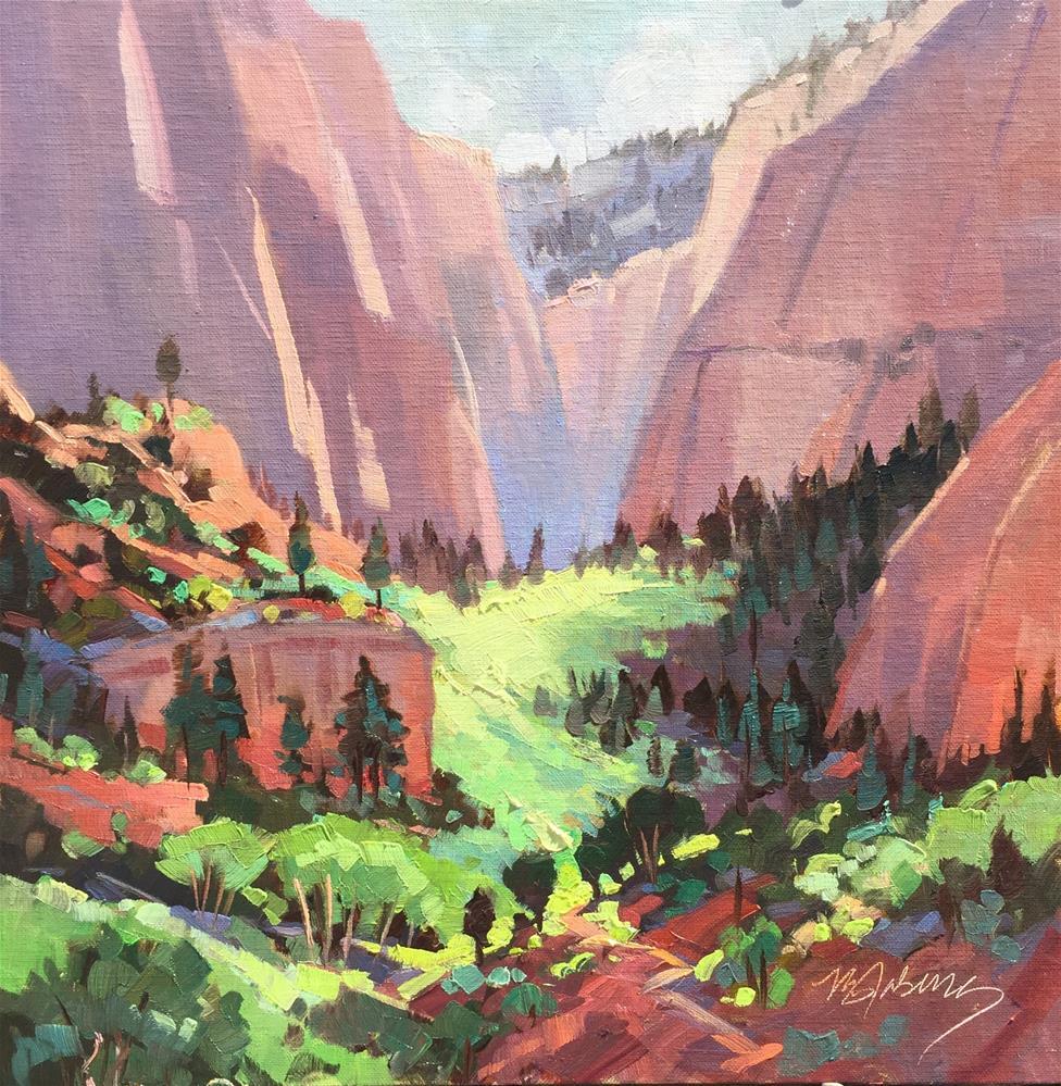 """Morning Light - Kolob Canyn"" original fine art by Mary Jabens"