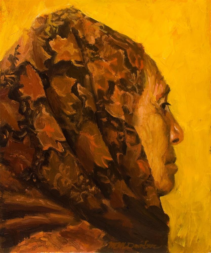 """Mayo Oakleaf Rebozo"" original fine art by Millard Davidson"