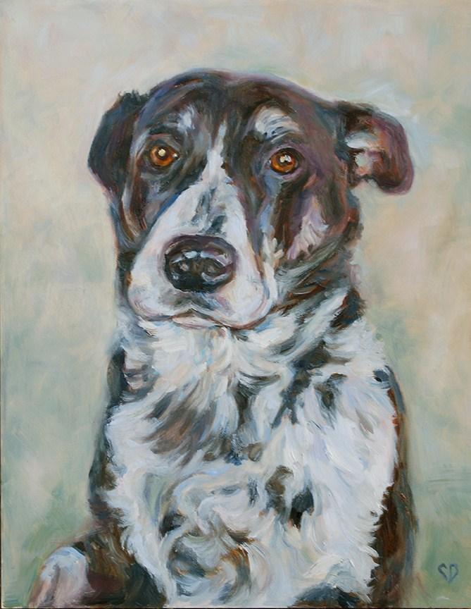 """Riley"" original fine art by Carol DeMumbrum"