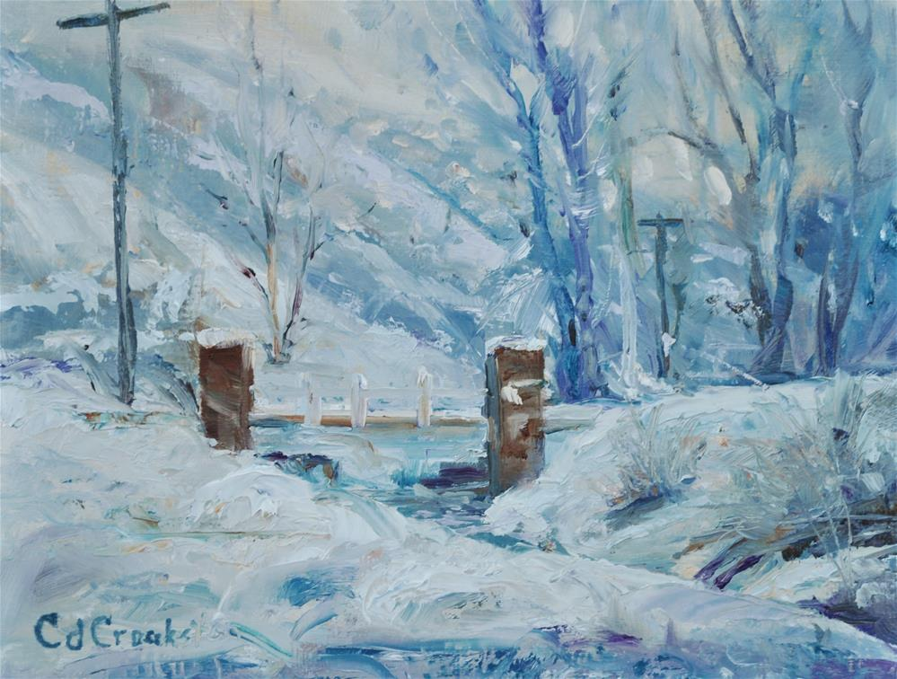 """""""Over The River"""" original fine art by Catherine Crookston"""