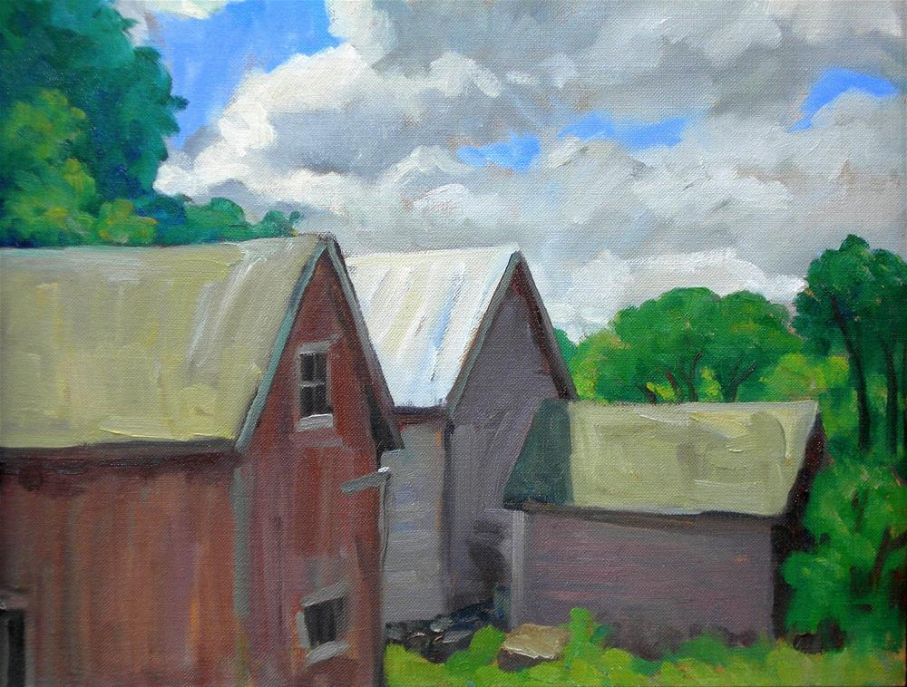 """Berkshire Barns"" original fine art by Thor Wickstrom"