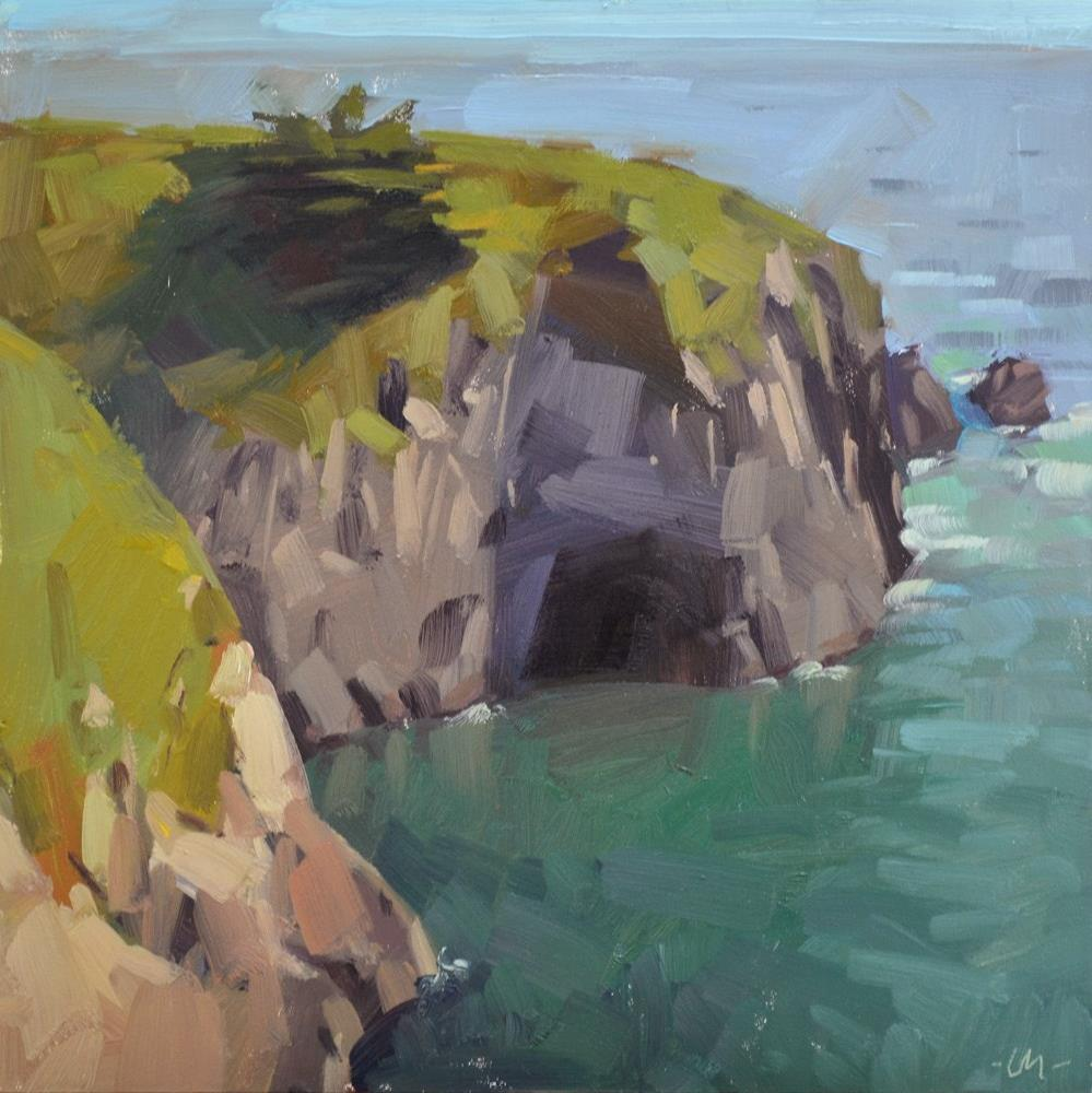 """Coastal Cave"" original fine art by Carol Marine"